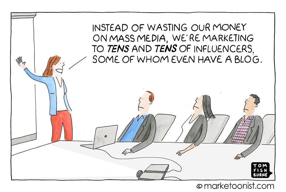 Influencer Marketing Cartoon Marketing Week