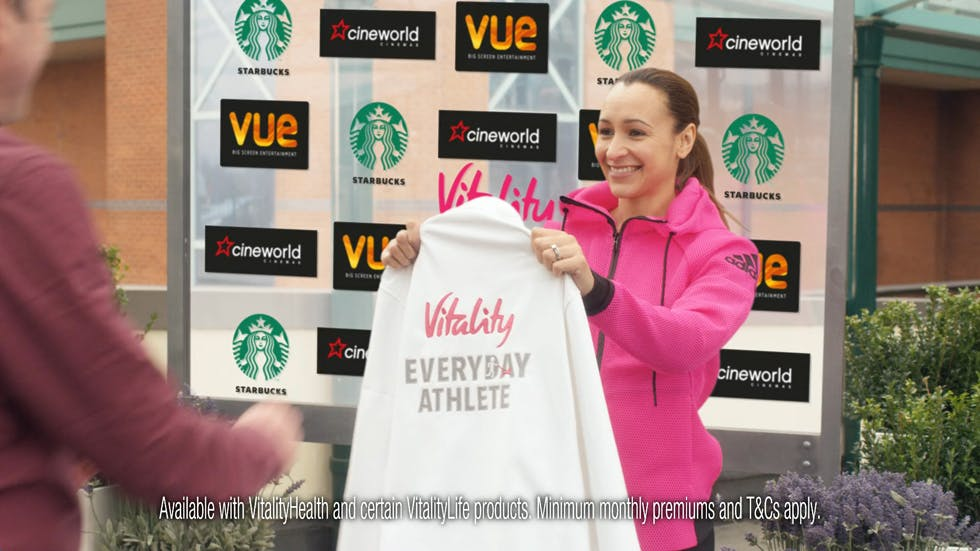 Olympic gold medal winning athlete Jessica Ennis-Hill promotes Vitality's healthy living agenda