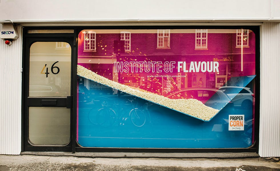 Propercorn's Institute of Flavour mixed experiential marketing with influencer activity and social media