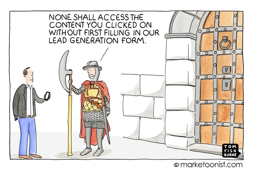 Lead generation and gated content Marketoonist