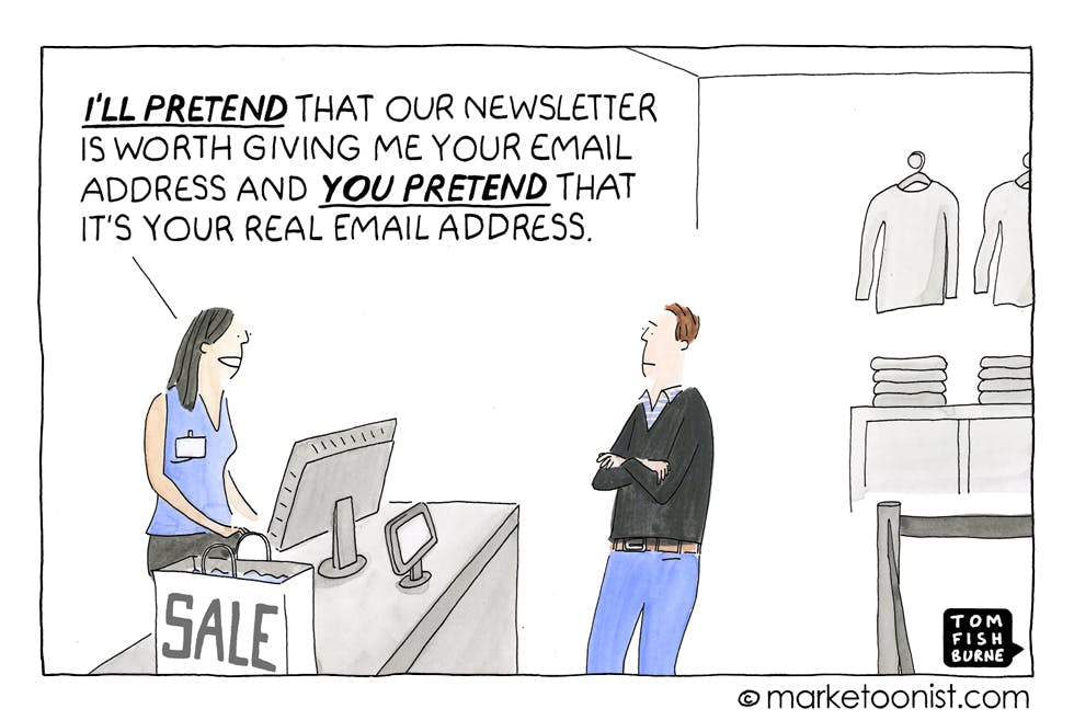Brand newsletters, Marketoonist