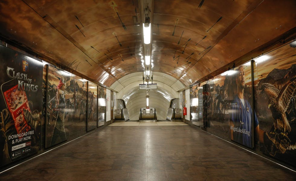 Games developer Elex took over Oxford Circus Underground station for the UK launch of its Clash of Kings game.