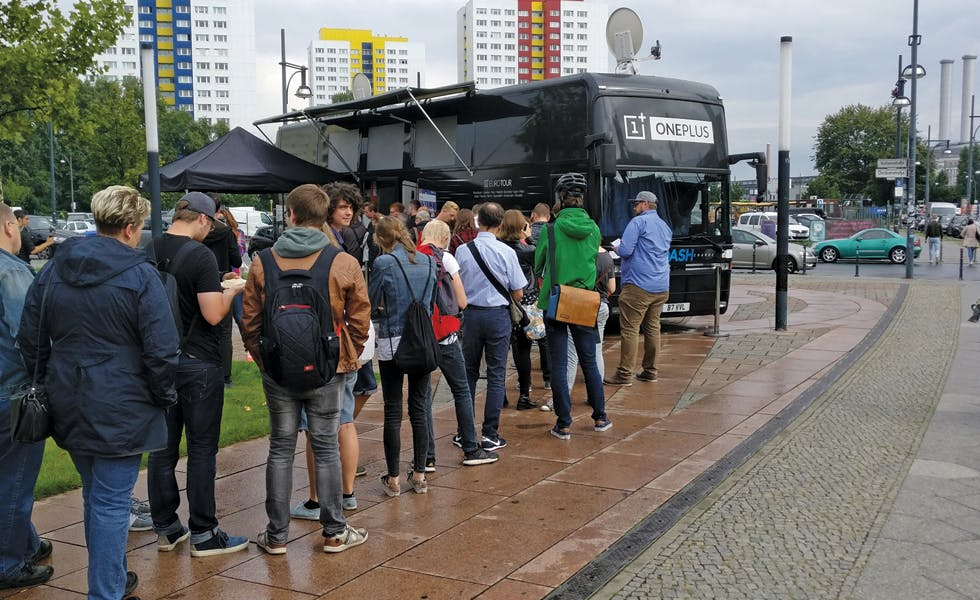 The OnePlus bus toured cities including London, Manchester, Rome and Amsterdam as part of its European tour.