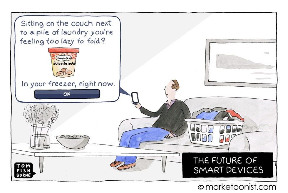 The future of smart devices, Marketoonist