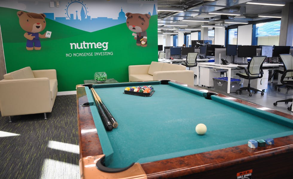 Nutmeg wants to create an environment where people can have 'crazy ideas'.