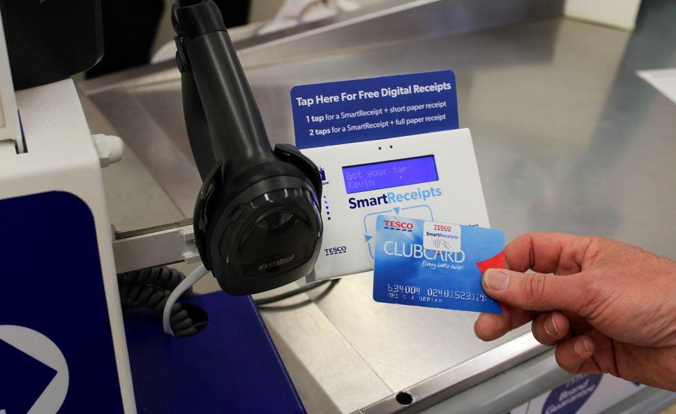 Tesco trials digital receipts and self-scanner tech