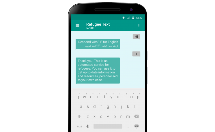 Refugee Text chatbot article image