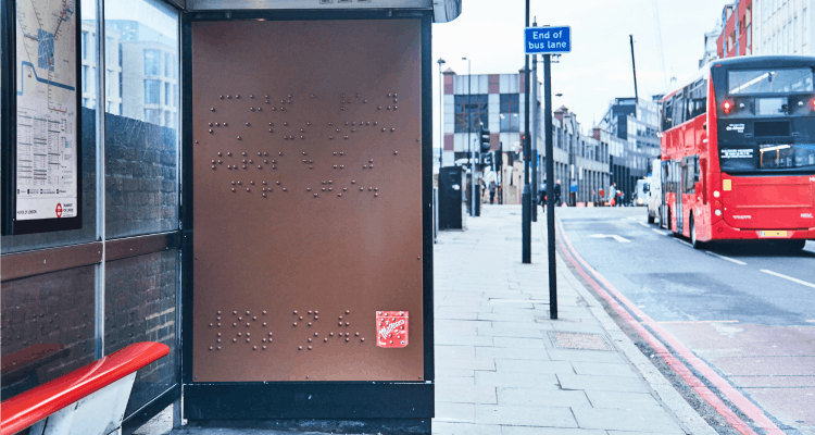 maltesers braille bus stop
