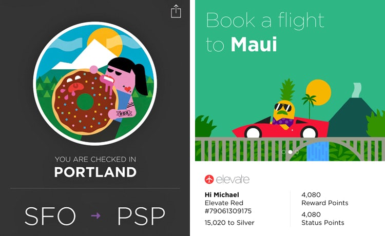 Virgin America's new app offers a personalised 60-second booking process based on the user's previous travel history.