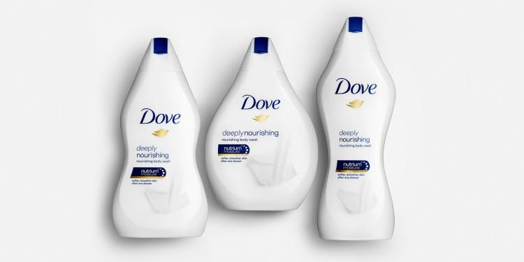 Dove body bottles