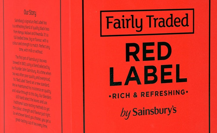Sainsbury's Fairly Traded tea