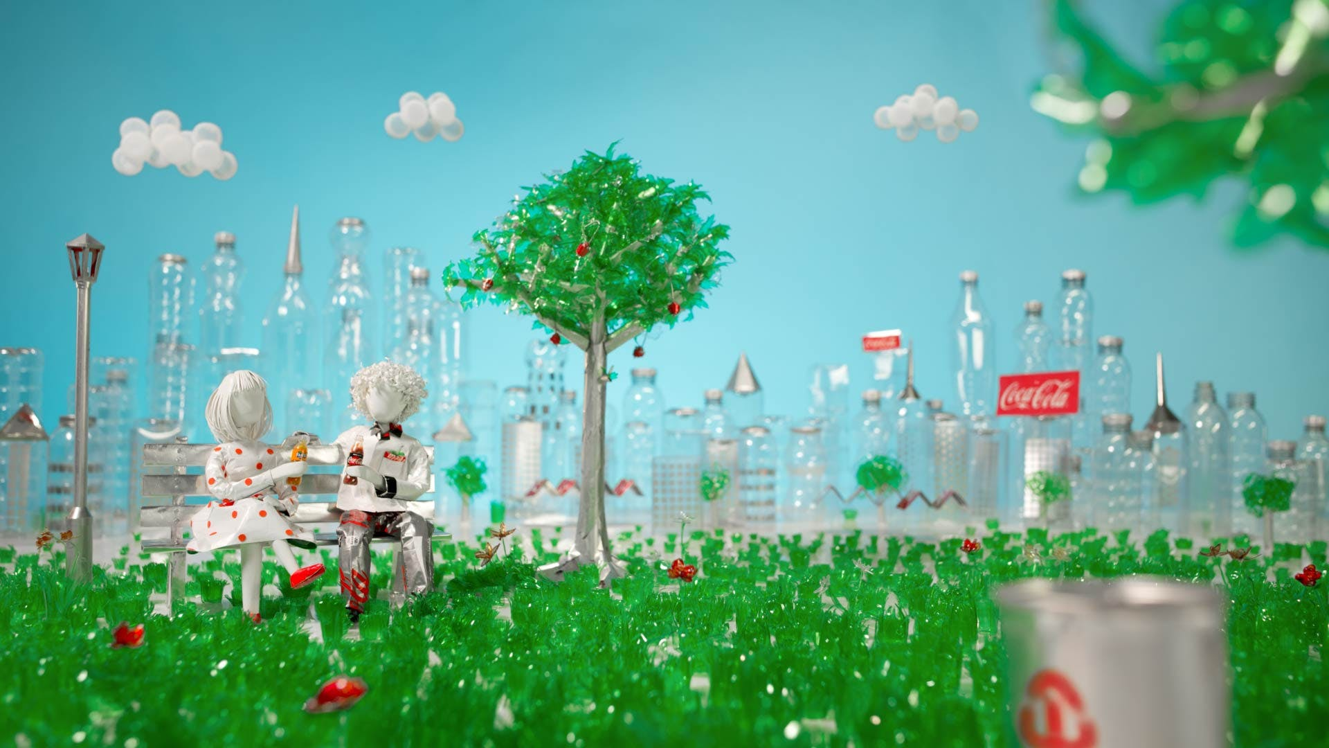 Image result for Coke Promotes Recycling
