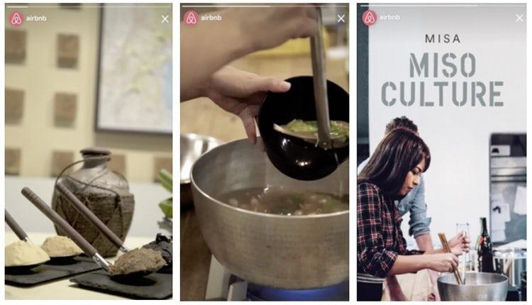 Instagram stories Airbnb
