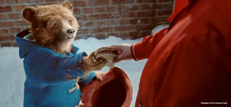 M&S Christmas ad featuring Paddington Bear