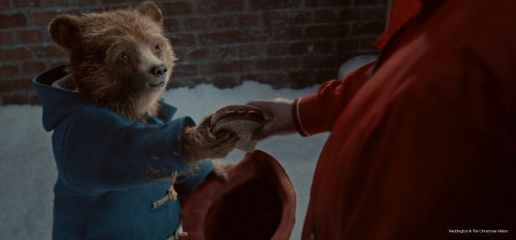M&S Christmas ad featuring Paddington Bear