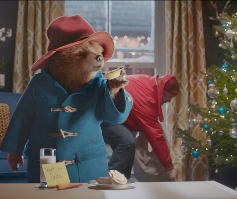 M&S Christmas campaign featuring Paddington bear