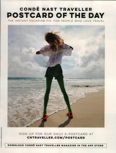 """10fed6279896 An ad by Condé Nast Traveller magazine has been banned by the ASA for  making the model look """"unhealthily thin""""."""