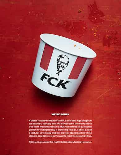 KFC FCK ad
