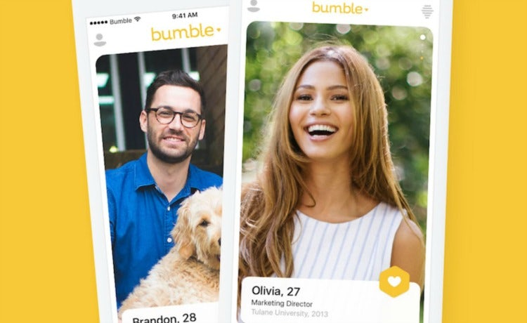 Bumble dating page