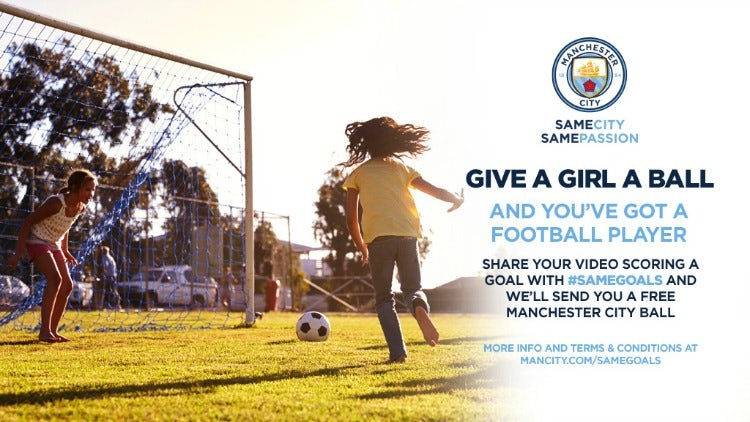 Manchester City #samegoals campaign
