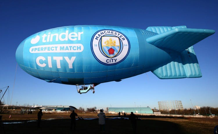 Manchester City Tinder Blimp