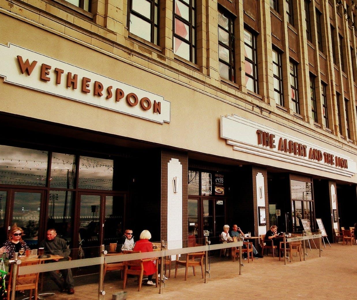Wetherspoon pub social media