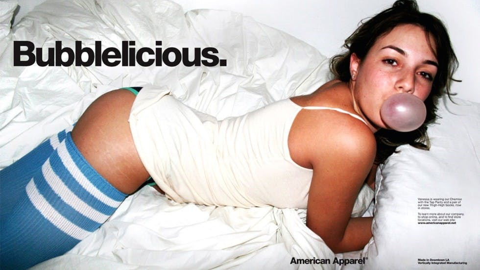 American Apparel advertising