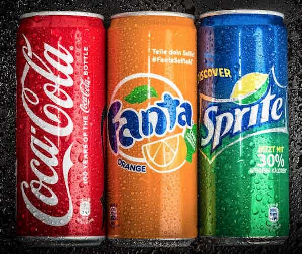 Coke, Fanta, Sprite