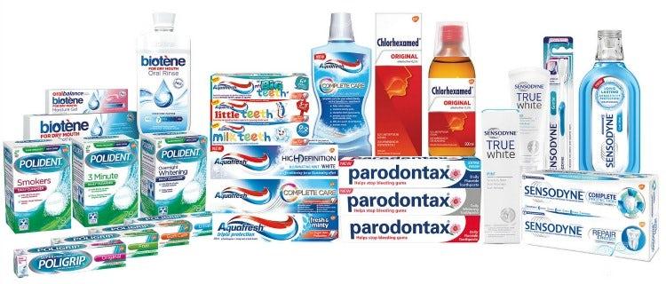 GSK oral health brands