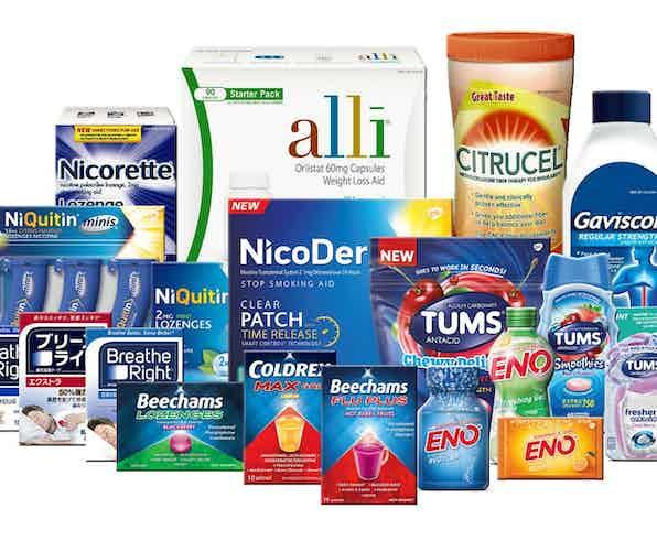 GSK healthcare brands