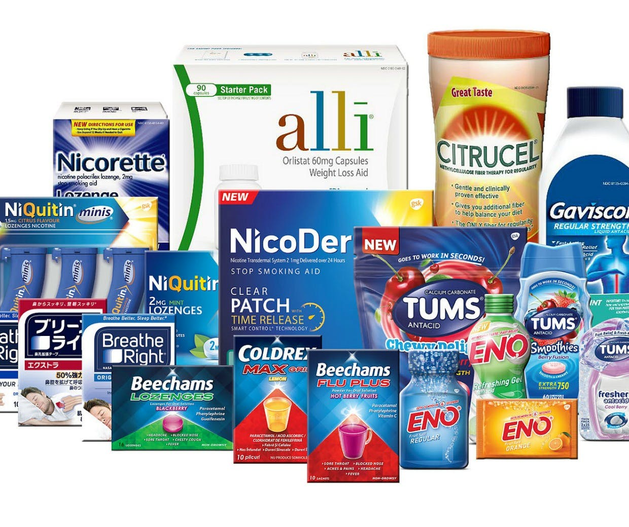 GSK healthcare brands