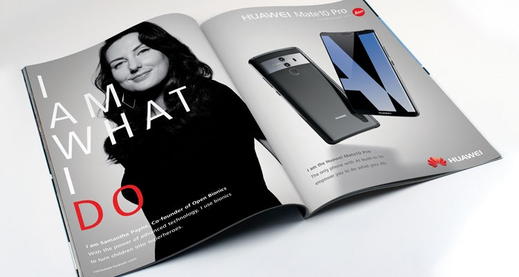 Huawei 'I am what I do' campaign