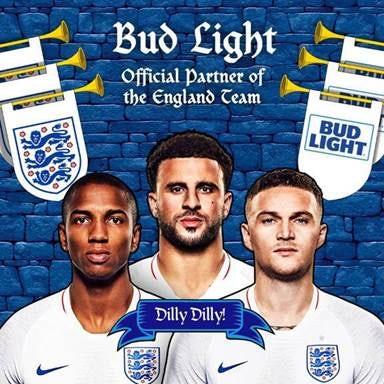 Bud Light sponsors FA England Men's Team