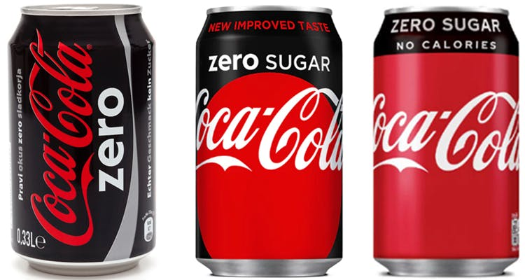 Coke Zero Sugar redesigns