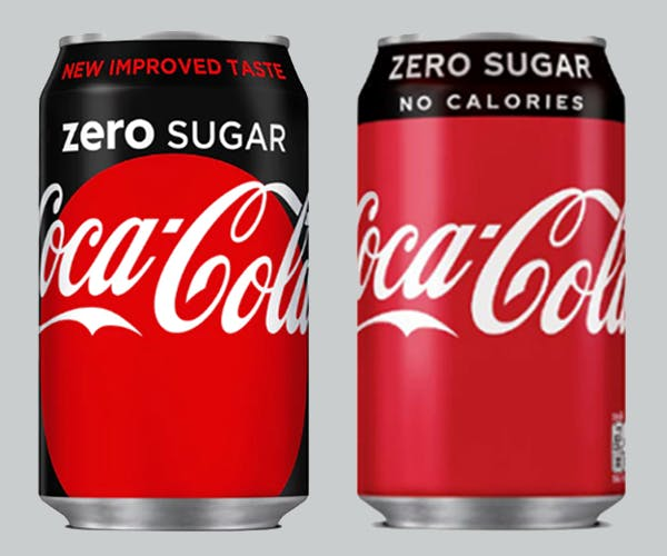 Coke Zero Sugar redesign