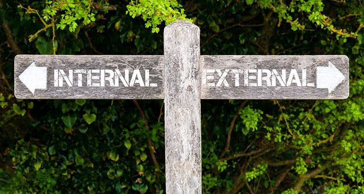 internal versus external