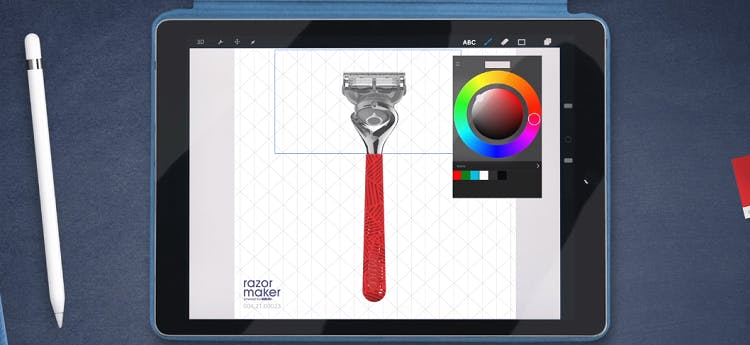 3D printing Gillette razor
