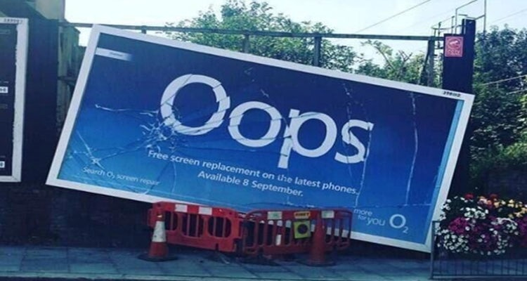 O2 oops campaign