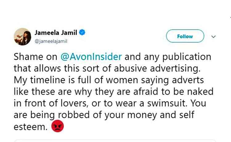Jameela-Jamil-tweet-Avon