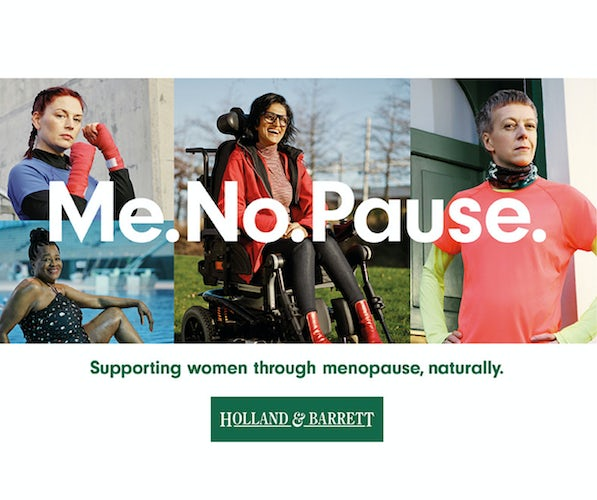 Holland & Barrett Me.No.Pause campaign