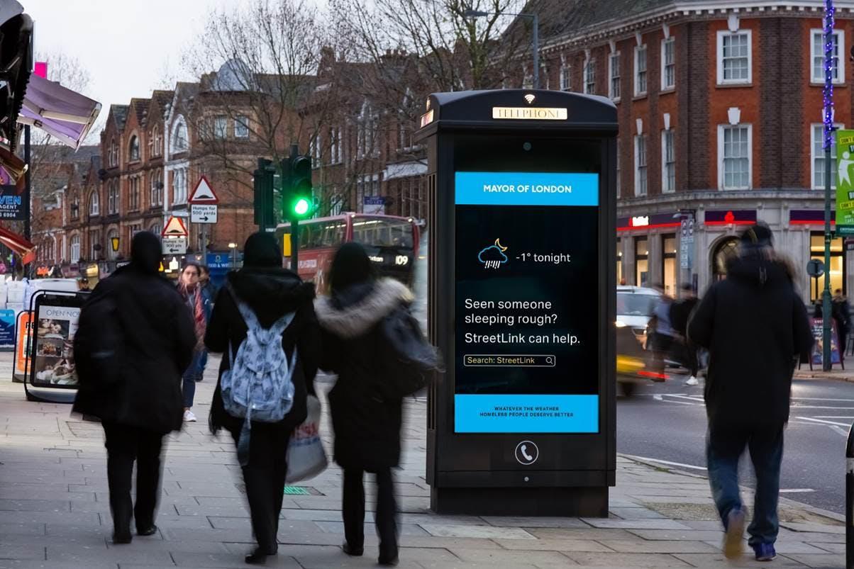 sadiq khan london homeless campaign