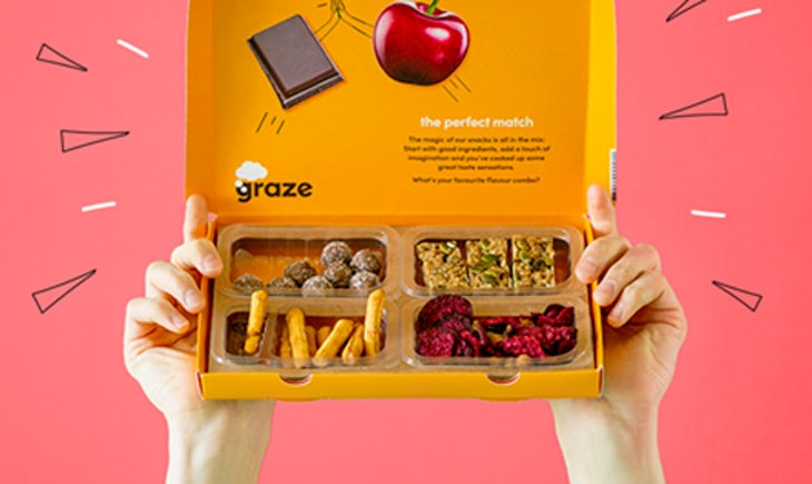 Graze, healthy snacking brand, Unilever