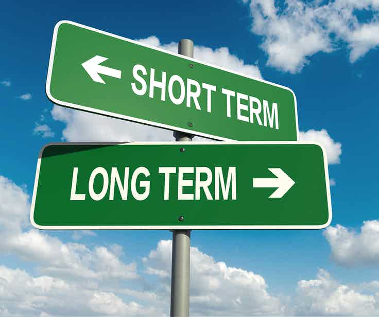 short term versus long term