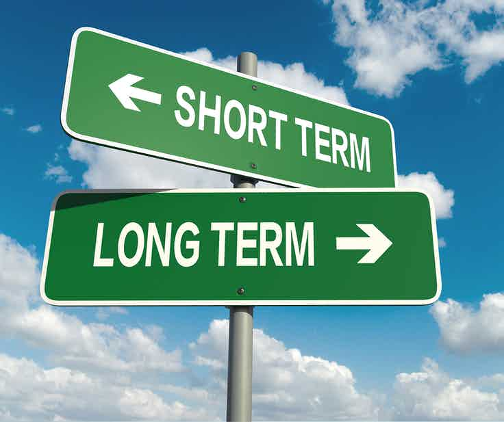 short term versus long term
