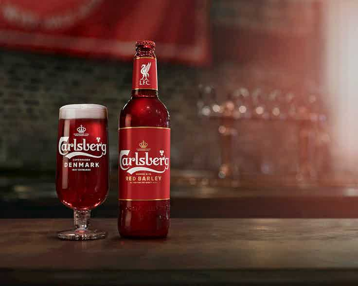 Liverpool red Carlsberg