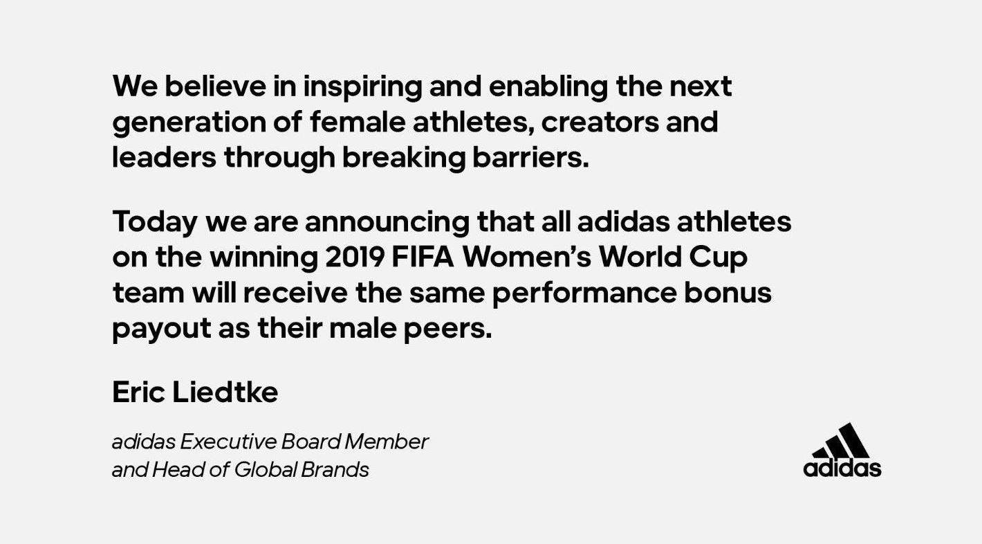 Adidas gender parity