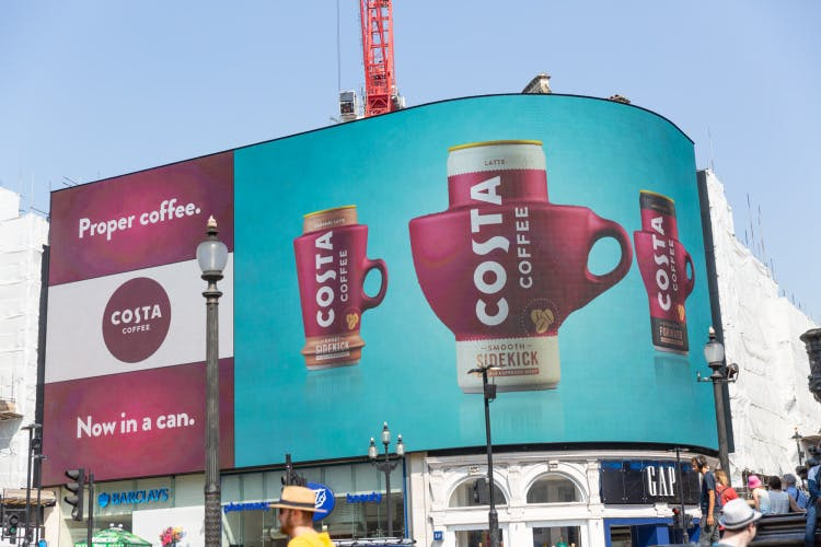 costa on piccadilly lights