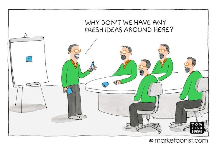 Marketoonist on diversity of ideas