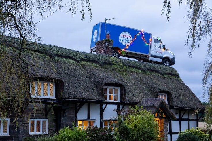 Tesco hopes to build on last year's Christmas success with a time-travelling delivery van