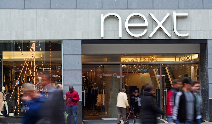 Next gets a Christmas sales boost as online shines